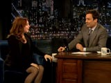 Alyson en face de Jimmy Fallon